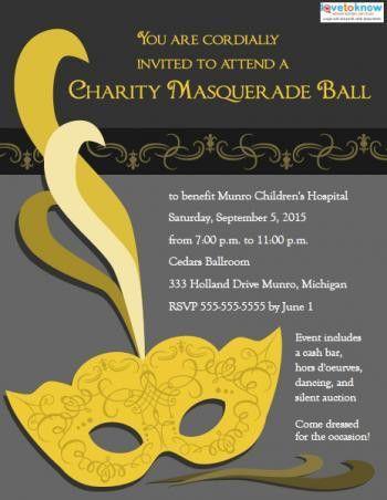 Masquerade Ball Invitation Templates