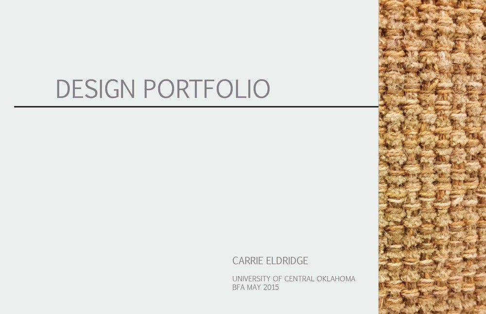 Portfolio — Carrie Eldridge Design
