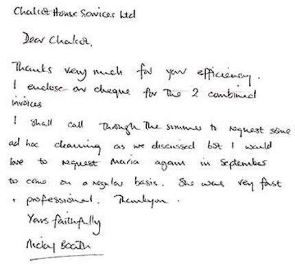 Recommendation Letter Sample For House Cleaner - Mediafoxstudio.com