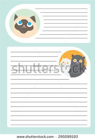 Sheet Note Paper Template Cute British Stock Vector 295099130 ...