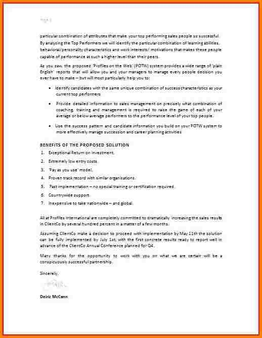 Sample Proposal Letter - 8+ Examples In Word, PdfProposal Letters ...