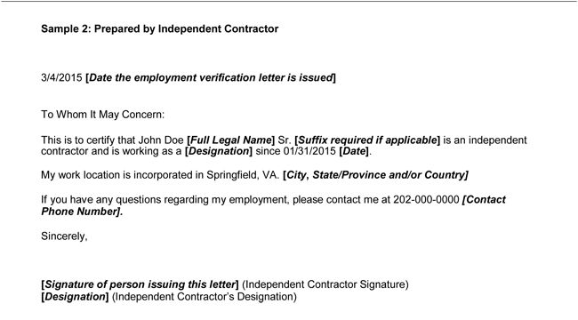 proof of employment letter sample verification example 02 ...