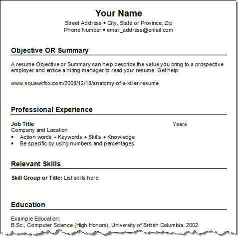 easy sample resume resume cv cover letter make resume format. 85 ...