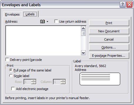 Printing Envelopes and Labels, Part 2: Labels   Legal Office Guru