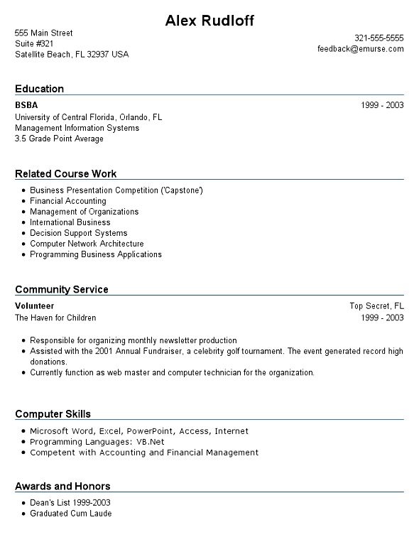 10 Job Resume Examples No Experience Resume sample resume for ...
