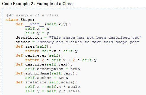 Python class example. Look for more detail class examples in http ...