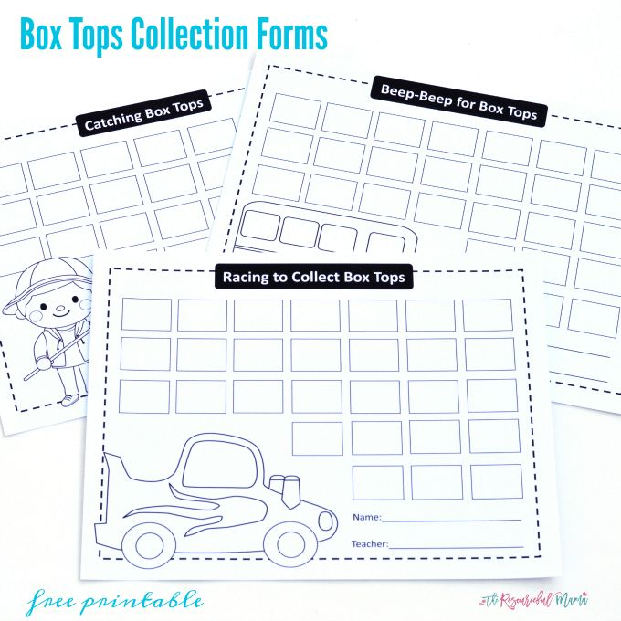 Box Tops Collection {Free Printable Forms} - The Resourceful Mama