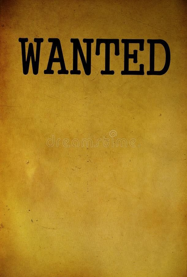 Vintage Wanted Poster Template Stock Photo - Image: 40424210