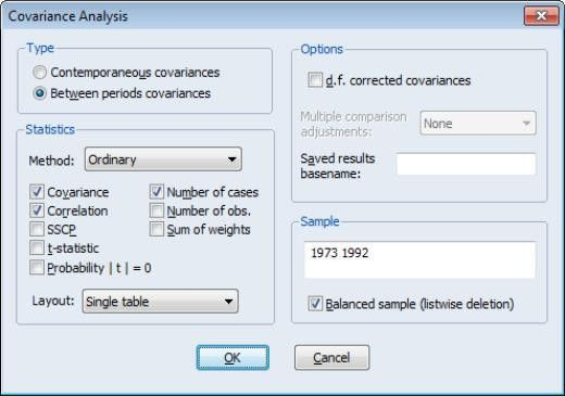 EViews Help: Panel Covariances