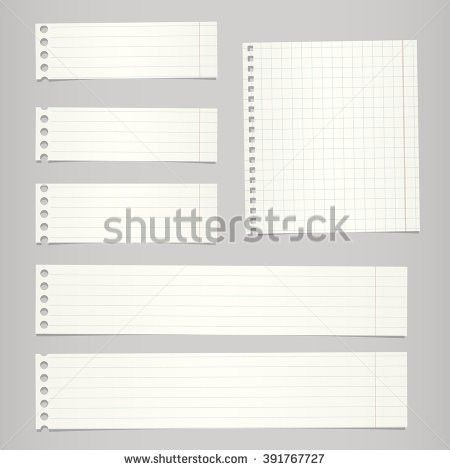 Blank White Lined Paper Notebook Paper Stock Vector 393769732 ...