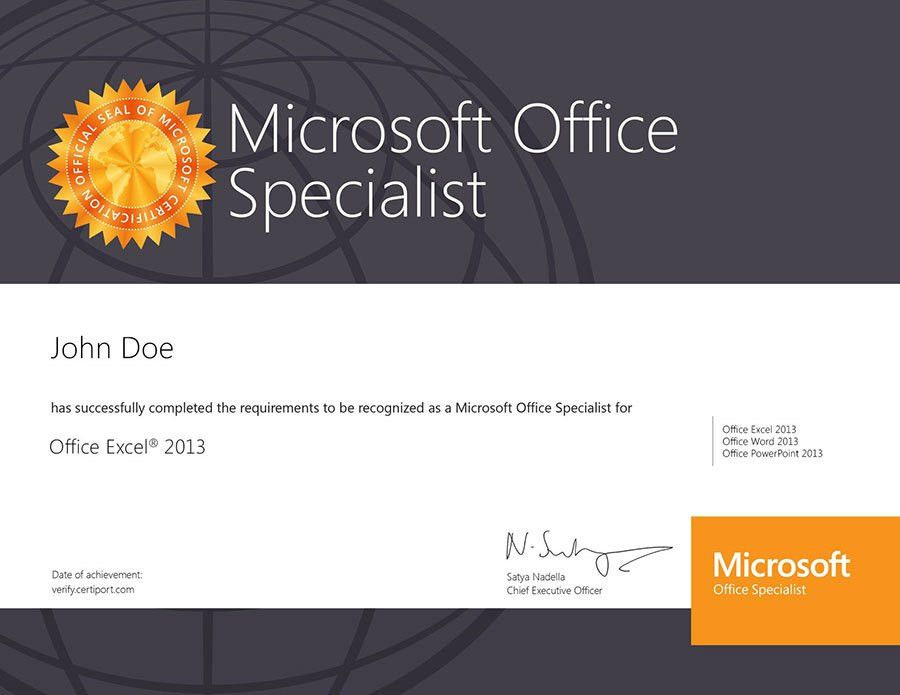 Microsoft office certificate template microsoft office prodigy learning commercial microsoft office specialist yadclub Image collections