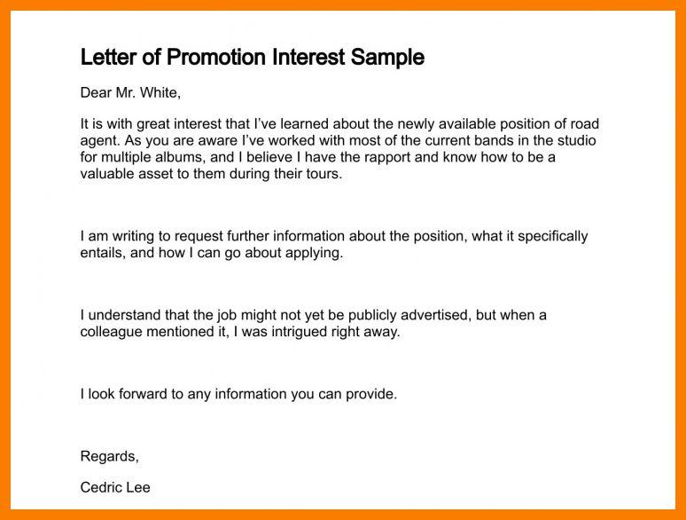 9+ Request For Promotion Letter Sample | Park Attendant