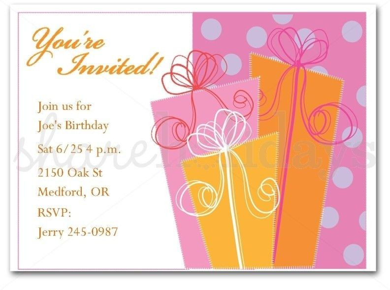 Adult Birthday Invitation Wording Template | Resume Builder