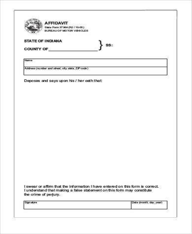 Free Affidavit Sample Forms - 9+ Free Documents in Word, PDF