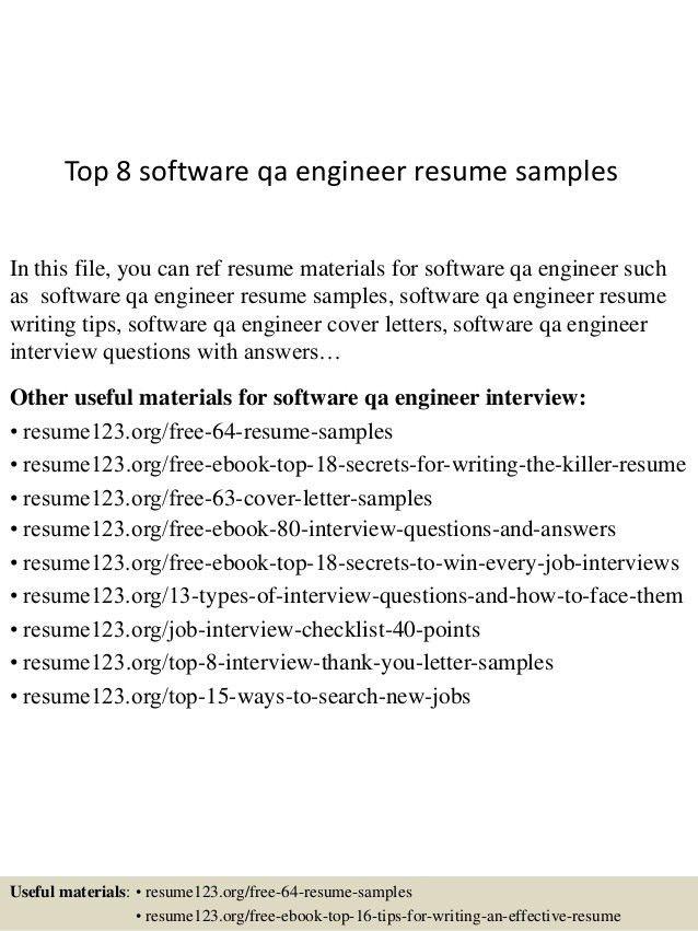 Download Senior Qa Engineer Sample Resume | haadyaooverbayresort.com