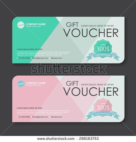 Luxury Gift Voucher Template Promotion Card Stock Vector 473547415 ...