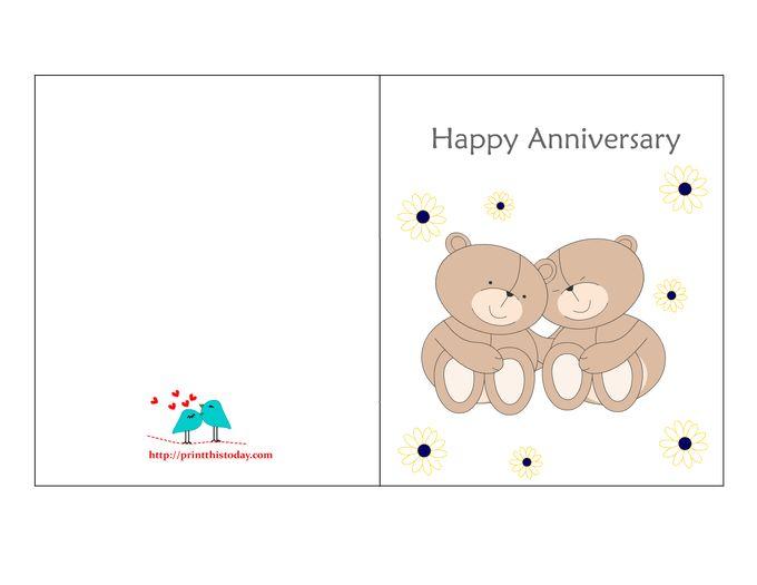 Printable Free Anniversary Cards Husband | Infocard.co