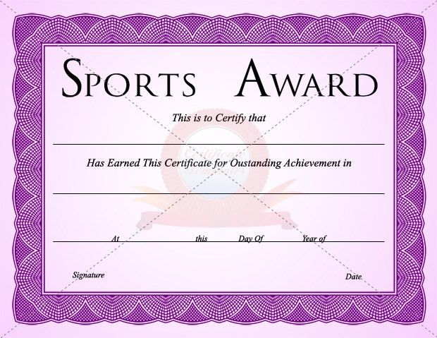 Sports Certificate Template | SPORTS CERTIFICATE TEMPLATES ...
