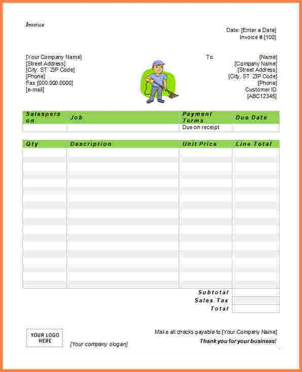 7+ office cleaning invoice template | Invoice Template