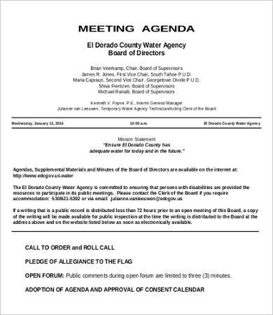 Hourly Agenda Template - 6+ Free Excel, PDF Documents Download ...