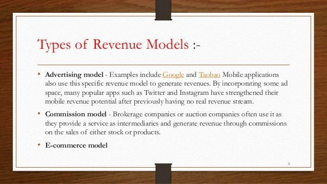 What is Revenue model?