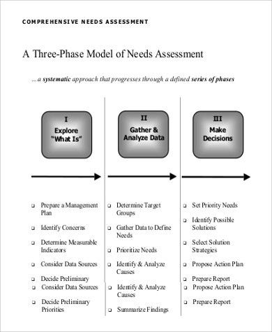 Needs Assessment Example - 9+ Samples in PDF