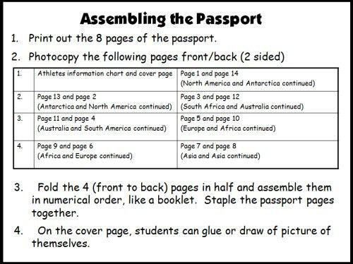 Reading Passports and Maps: The Amazing Reading Race Sticker Charts