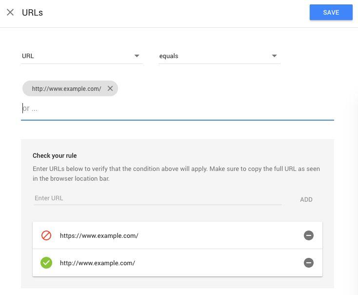 URL targeting - Optimize Help