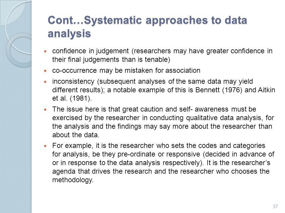 Approaches to qualitative data analysis - ppt download