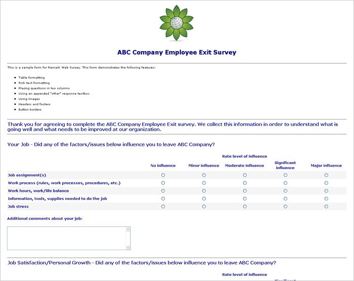Sample Survey Questions Employee Morale. Employee Surveys ...