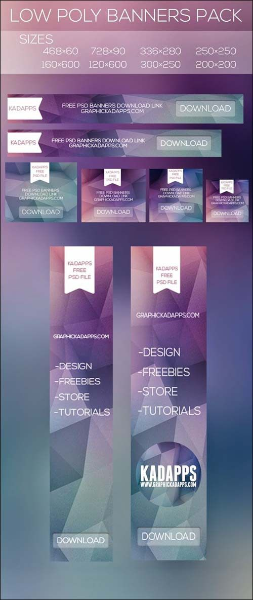 Low Poly Back Free Photoshop PSD Banner Templates | Designrazzi ...