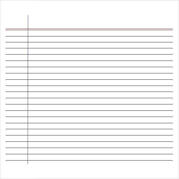 Writing Paper Template | ossaba.com