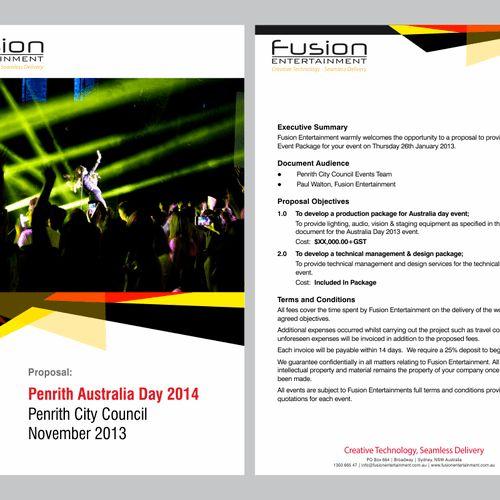 Create a proposal template design for creative event company ...