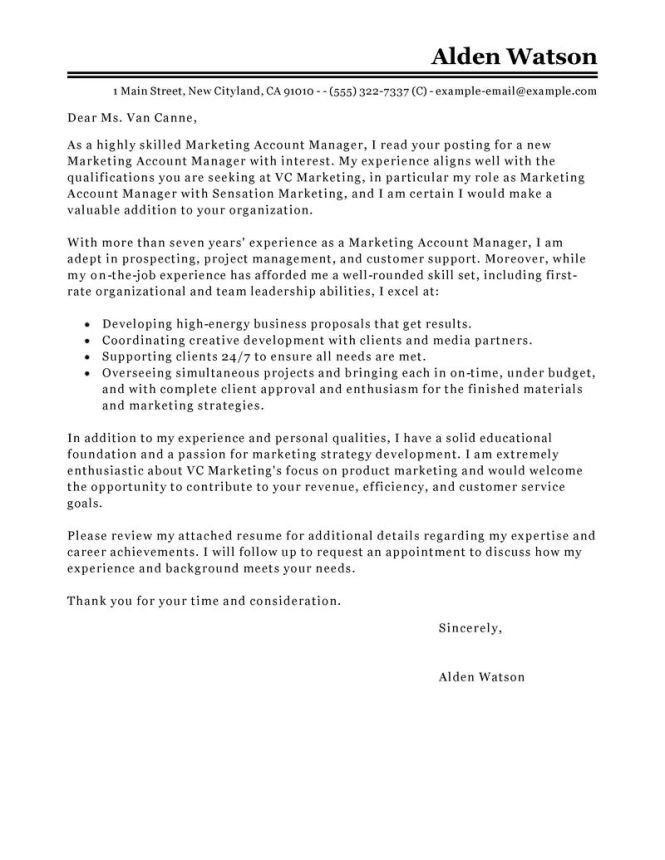 Account Manager Cover Letter. Cover Letter Cv - Global Account ...