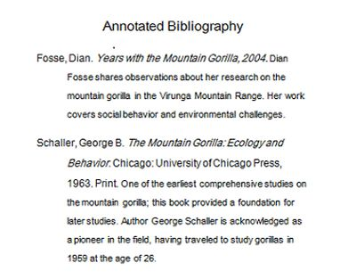 Annotated Bibliography Definition and Examples