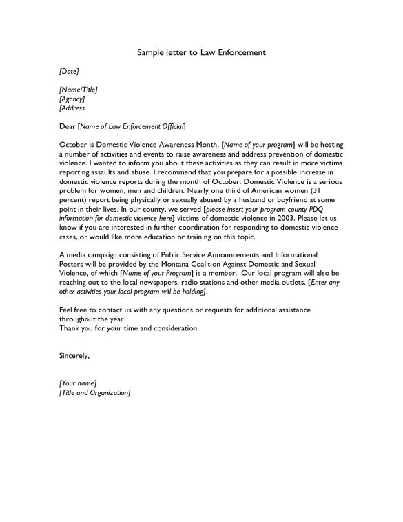 Job Wining Police Resume Cover Letter To Law Enforcement and ...