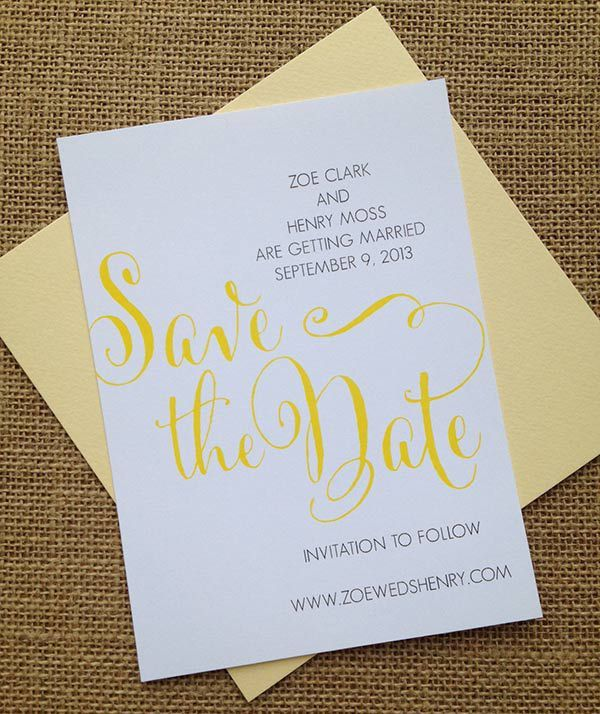 Printable Save The Date Cards |