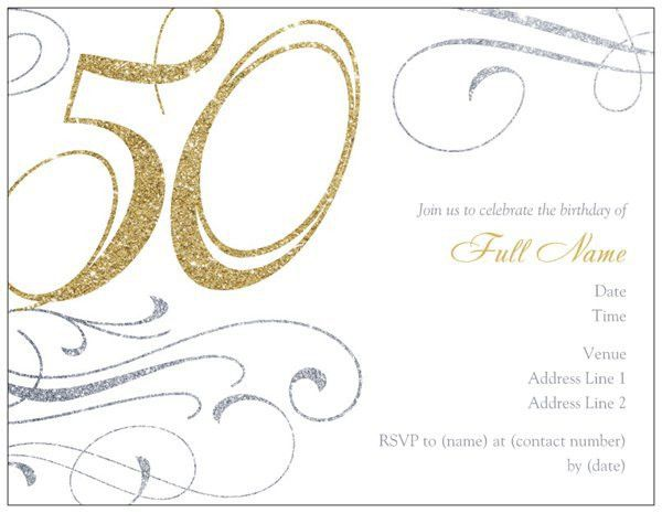 50th Birthday Invitation Template - Blueklip.Com