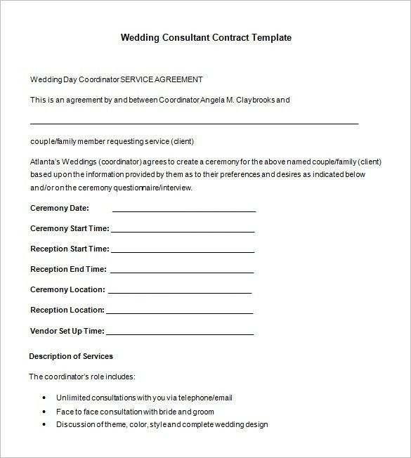 8+ Consultant Contract Templates- Free Word, PDF Documents ...