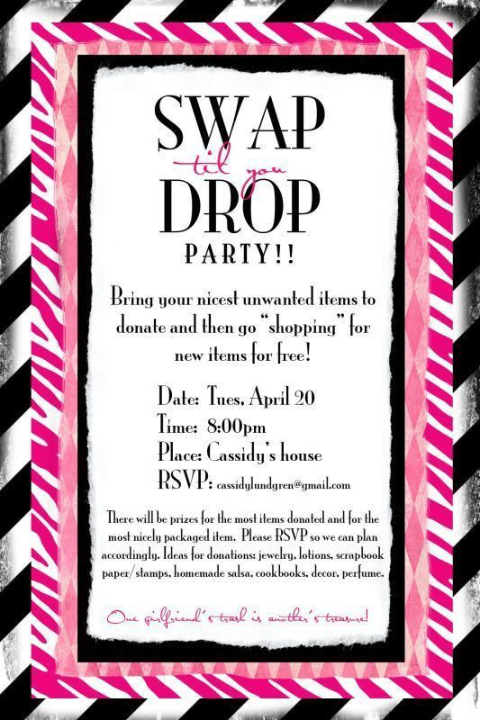 20 best Clothing Swap Flyers images on Pinterest | Clothing swap ...