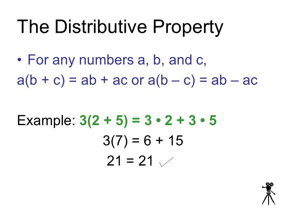 The Distributive Property 1-5 Objective: Students will use the ...