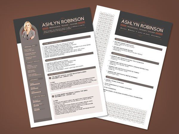 free premium professional resume cv design template with best ...