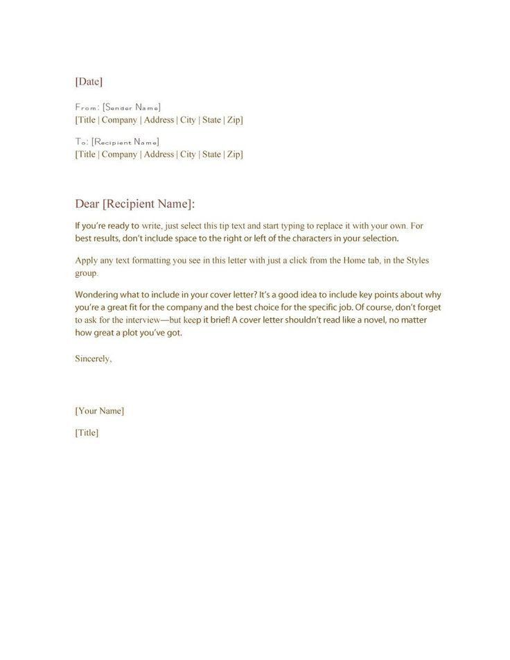 The 25+ best Formal business letter format ideas on Pinterest ...
