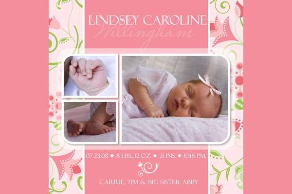 9+ Birth Announcement Templates - Printable PSD, AI Format ...