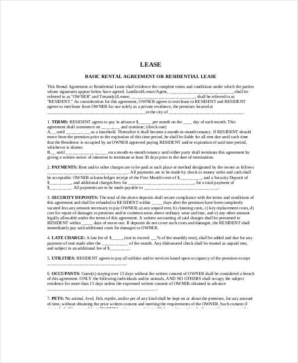 13+ Rental Agreement Templates - Free Sample, Example, Format ...