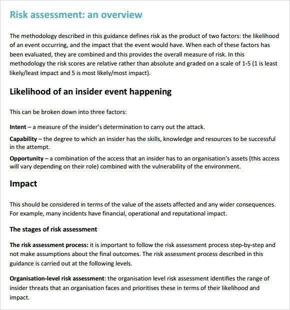 Product Risk Assessment. 10 Transport – Risk Assessment Css 2013 ...