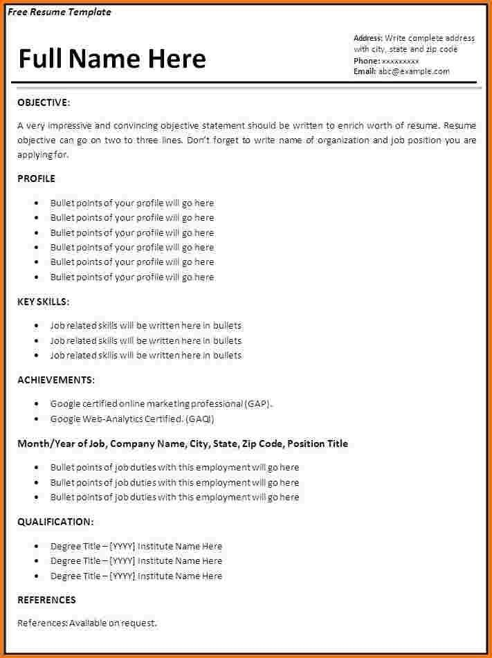 Simple Job Resume Format Simple Job Resume | jennywashere.com