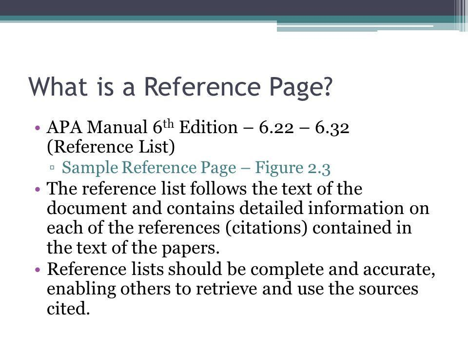 APA Reference Page Dr. Gustafson. - ppt download