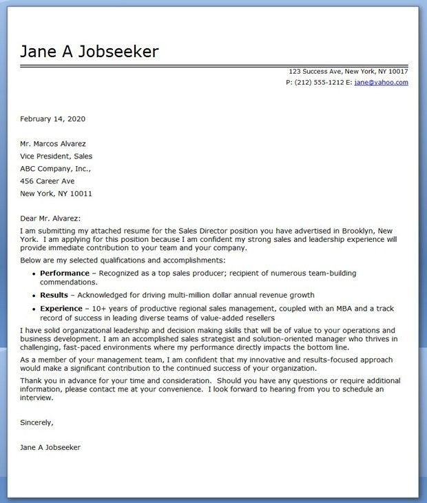 cover letter sales director cover letter sales director within ...