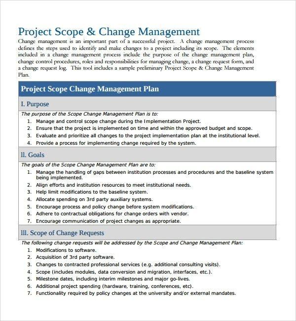 Change Management Plan Template - affordablecarecat